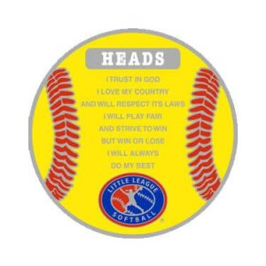 Softball Flip Coin Head