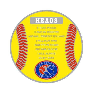 Softball Flip Coin Head