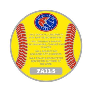 Softball Flip Coin Tail